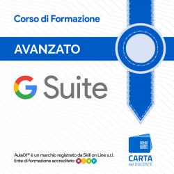 G Suite Avanzato per Certificazione Educator Lev. 1